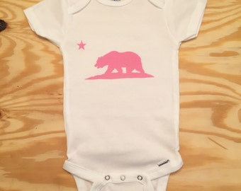 California Bear Baby Onesie