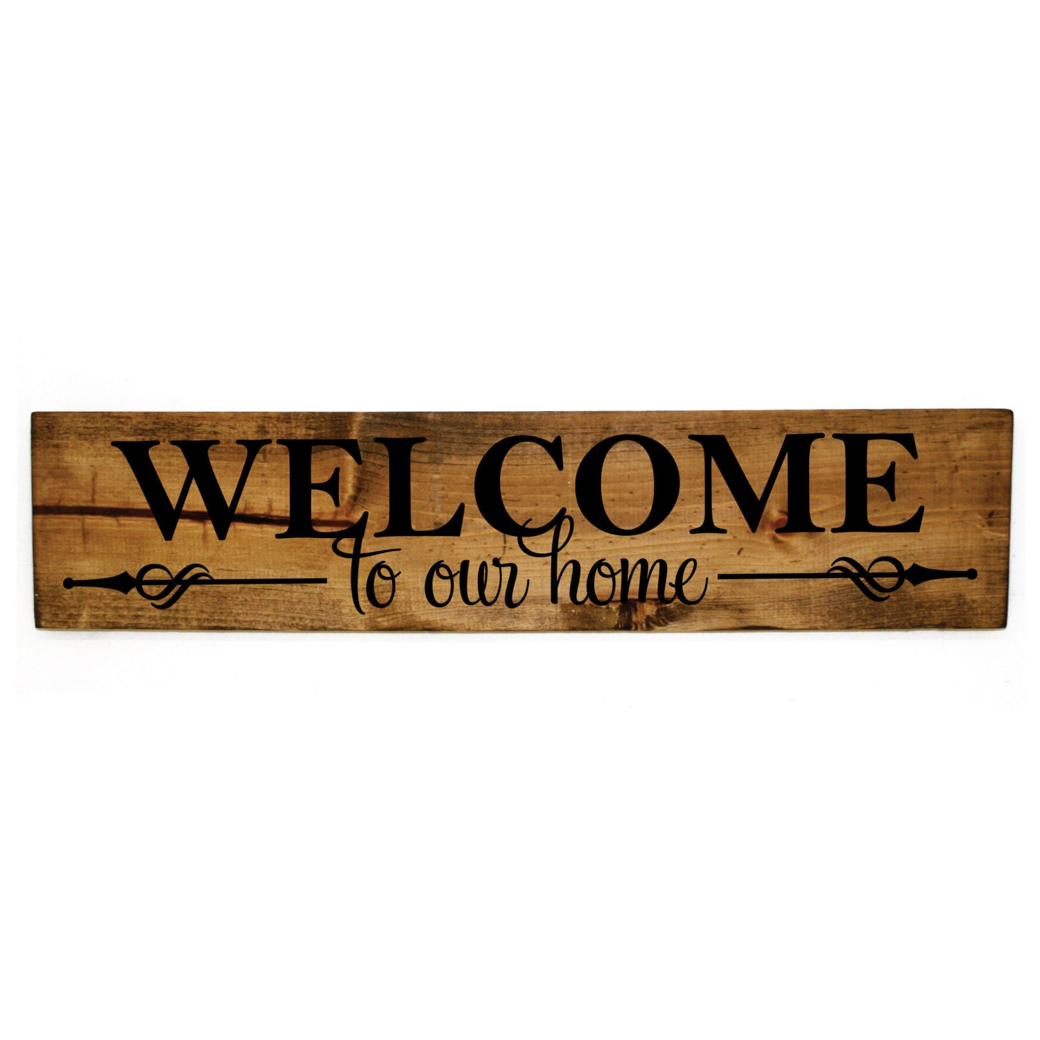 Welcome To Our Home: Welcome To Our Home Wood Sign Wood Home Decor Rustic Wood