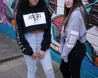 Priceless Cropped Hoodie
