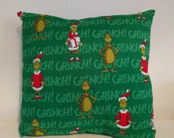 """Grinch cushion 16"""" x 16"""""""