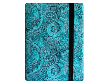 Kindle Case, Kindle Paperwhite Cover, Kindle 6 7 8 Cover, Kindle Voyage, Amazon Kindle Fire HD 6 7 8, Nook Glowlight, Turquoise Paisley Gray