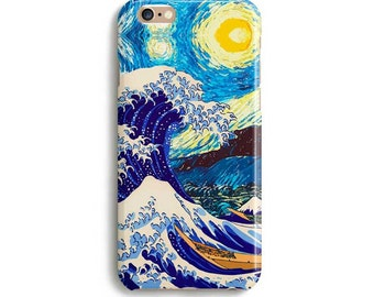 Starry night Great wave off Kanagawa - iPhone 7 case, Samsung galaxy S7 case iPhone 6 iphone 7 ...
