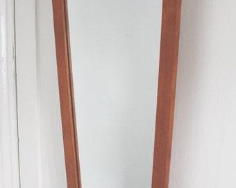 Retro, mid century, teak, framed mirror