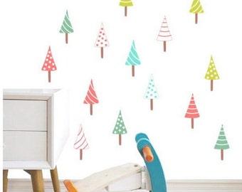 Wall Decals Kids,Nursery Wall Decals,Tree Wall Decals,Wall Decals Nursery,Christmas Tree,Christmas Decor,Holiday Decor,Stocking Stuffers.