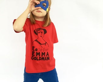Feminist Kids Shirt - Emma Goldman T-Shirt & Screenprint // Kids Gift