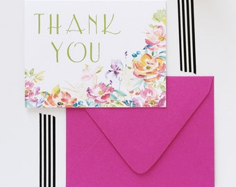 Thank You Card Set Stationery Set Bridesmaid Gift Wedding Thank You Cards  Calligraphy