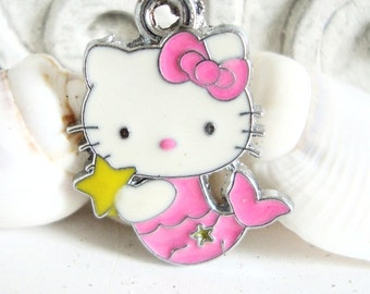 Mermaid Kitty Charm,Mermaid Kitty Jewelry Charm,Bracelet Charm,Bracelet Jewelry Charm