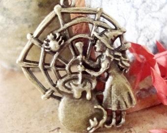 Witch Pendant Bronze tone