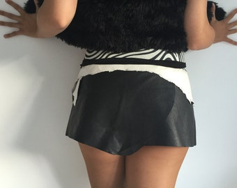 handmade leather skirt