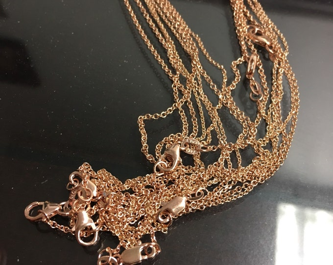 Gold Pendant Chain in 14k Gold
