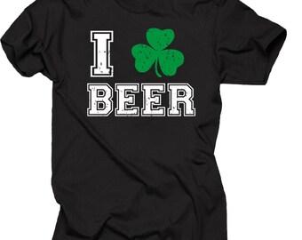 Saint Patrick's Day T-Shirt Pub Shamrock Beer Clover Tee Shirt