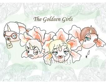 The Goldeen Girls Art Print