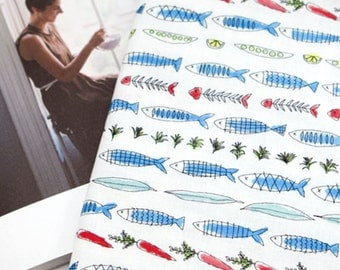 Cotton Fabric Fish By The Yard