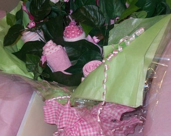 Baby Shower~Gift Shopping Easy With Our One of A Kind Handmade Bundle Of Roses A Perfect Gift For A Mother to Be For A (Baby Girl)