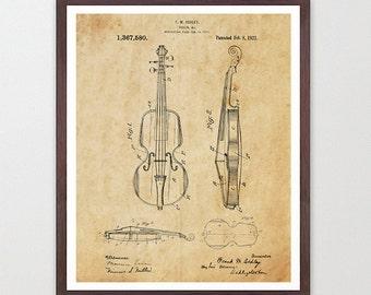 Violin Patent Poster - Violin Poster - Violin Art - Orchestra - Violin Wall Art - Classical Music - Classical Art - Symphony - Musician Art