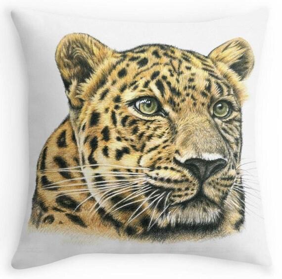 leopard kissen kissenbezug mit wildkatze bild leopard 40 x. Black Bedroom Furniture Sets. Home Design Ideas