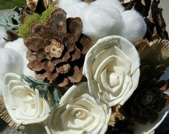 Bridal Bouquet, Rustic Bouquet, Shabby Chic Bouquet, Rustic Bridal Bouquet