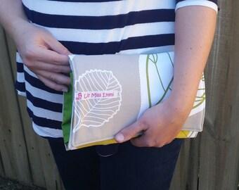 Diaper clutch | diaper changing pad | travel diaper bag | baby changing mat | diaper purse | small diaper bag