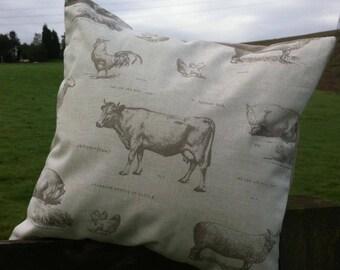 Fryetts Farmyard Print Cushion Cover