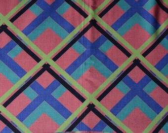 """BTY 1 Yard cut 1940s Cotton Rayon Plaid Fabric - 38"""" wide -B6"""