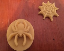 Set of 5 Lotion bars. Spider and web lotion bar. All-natural lotion. Beeswax lotion bar.