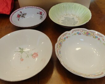 Four Vintage China Bowls