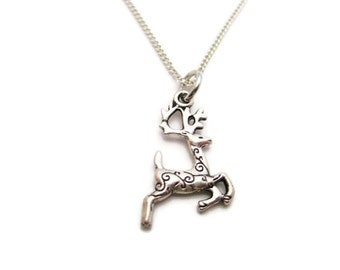 Reindeer Neckalce Sika Deer Necklace  Gifts For Her Reindeer Jewelry Sika Deer Jewelry Choose Your Chain