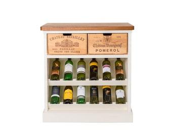 Painted rustic wine rack