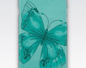 Case for iPhone 8, iPhone 6s,  iPhone 6 Plus,  iPhone 5s,  iPhone SE,  iPhone 5c,  iPhone 7,  Turquoise Butterfly Design iPhone