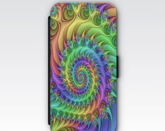 Wallet Case for iPhone 8 Plus, iPhone 8, iPhone 7 Plus, iPhone 7, iPhone 6, iPhone 6s, iPhone 5/5s - Fractals Design Case