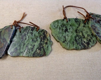 Natural African Turquoise slice set