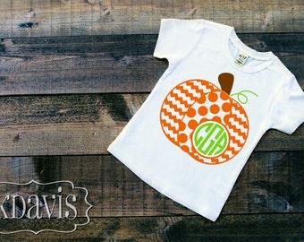 Pumpkin monogram tshirt