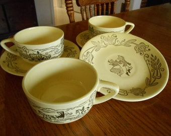 Bucks Country Royal Sebring Cups and Saucer, Lovely Butter Yellow, Made in Ohio, Fill in Your Set, Start Someone's Collection of USA Made