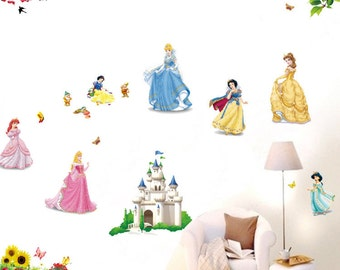 Disney Princesses Bedroom Wall Decal - AW5102
