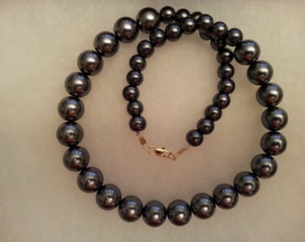 Slate Grey Pearl Necklace