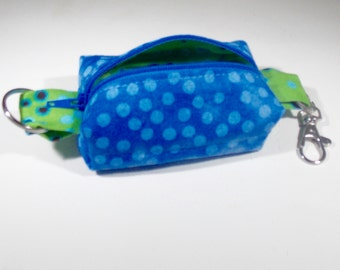 Dots and spots zippered key fob