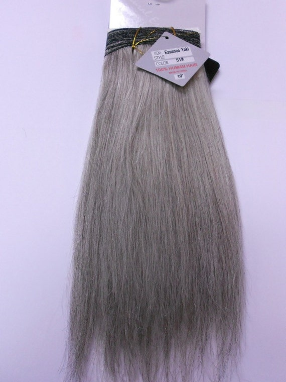 Salt and pepper 100 human weave hair extension straight like this item pmusecretfo Image collections