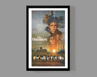 The Outsiders Poster Print - Stay Gold Ponyboy Greasers - Movie Cult Classic Teen Drama Film 80's