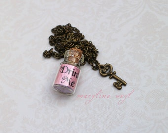 Necklace vial drink rose me