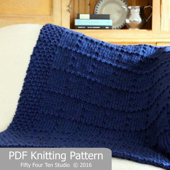 Knitting Pattern For Wedding Blanket : KNITTING PATTERN / Brookside Blanket / Throw / Knit / Gift / Christmas / Wedd...
