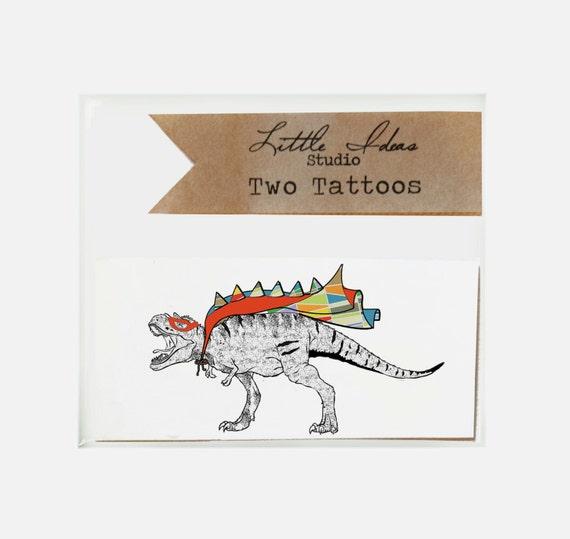 T-Rex Tattoo. Temporary Tattoo.