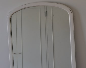 S A L E  reduced was 85.00 now 60.00 White Wall Mirror, slightly distressed