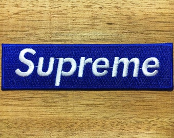New  Blue Supreme Clothing- Iron on Embroidered Patch