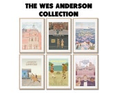 WES ANDERSON COLLECTION - 6 affiches de film - posters