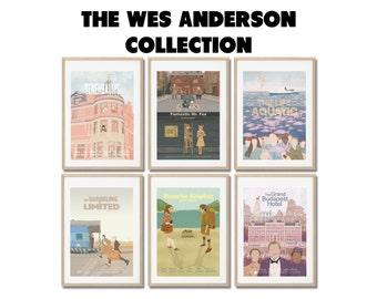 WES ANDERSON SET !!   6 Movies !  Art Posters set - Prints