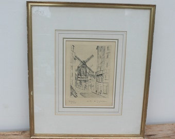 Original Framed and Signed Etching by Andre Albert Marie Dunoyer de Segonzac