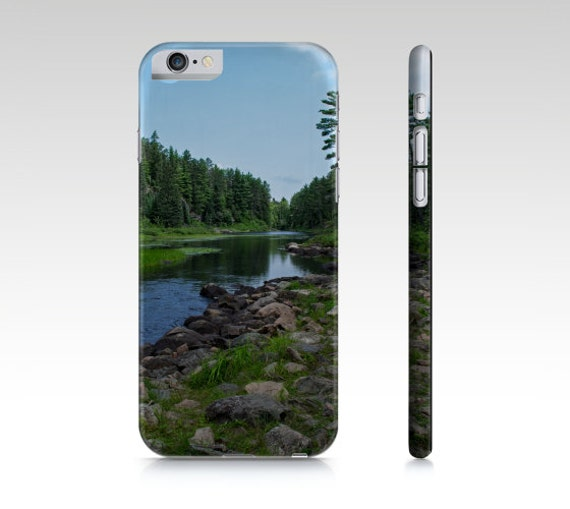 Phone Case, Boundary Waters, Landscape Photo, Minnesota Images, Cell Accessories, Blue and Green, iPhone 6 6s, Samsung Galaxy 5 4 3