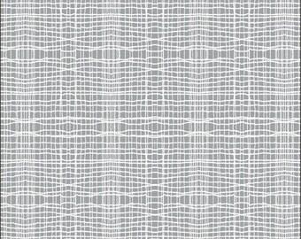 Cotton Fat Quarter Makower Stitch Check Grey