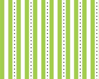 Fat Quarter Fab Friend-zy - Lime Stripe - Henry Glass (HEG6489-66) Cotton Fabric