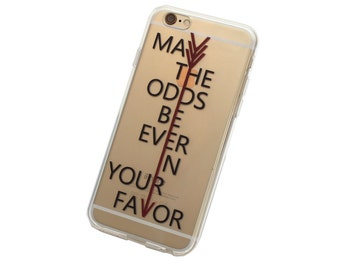 iPhone 6, 6 May the Odds Be Ever In Your Favor Case - Your choice of Soft Plastic (TPU) or Wood
